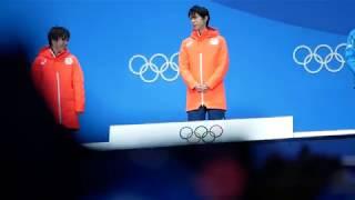 [Yuzuru Hanyu]2018 2 17 Figure Skating Men's Medal Ceremoney in Pyeong Chang OG