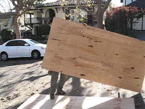 2007 07 13 How To Pick Up And Carry A Sheet Of Plywood By