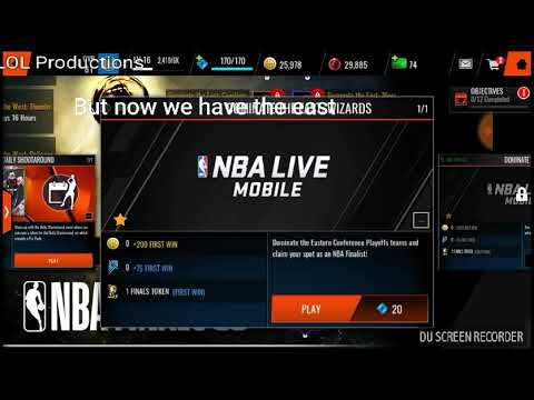 NBA Live Mobile- Dominate The East- Vs Wizards