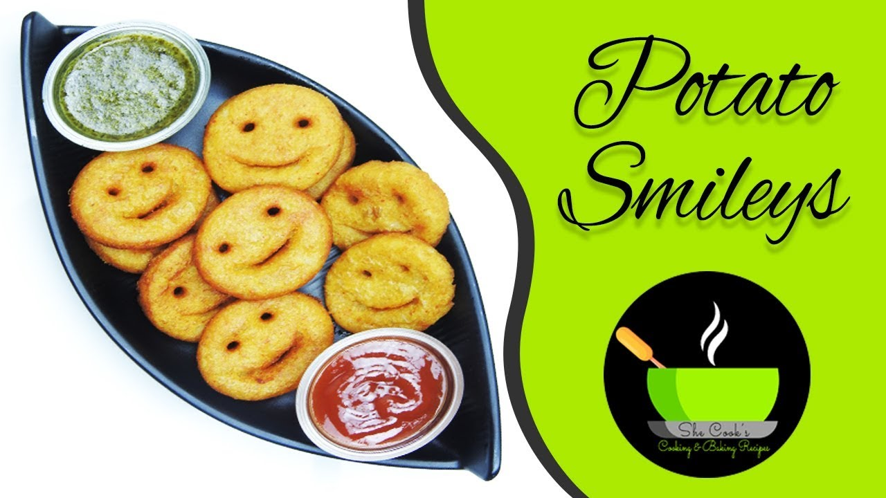 Potato Smiley Recipe / Mccain Potato Bites / /How To Make Potato Smiles  Recipe