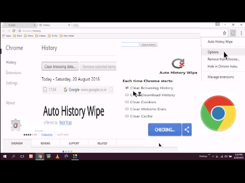 How to Delete Automatic Browsing History of Google Chrome