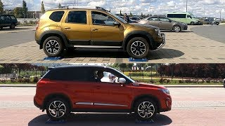 Dacia Duster 4WD vs Suzuki Vitara S All Grip - 4x4 test on rollers - AUTO & LOCK