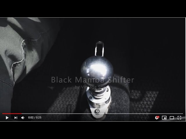 Vintage Speed Black Mamba Shifter vw bug custom CNC
