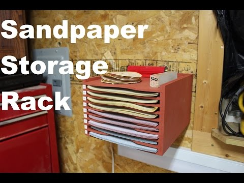 How To Build This Simple Sandpaper Cabinet - YouTube