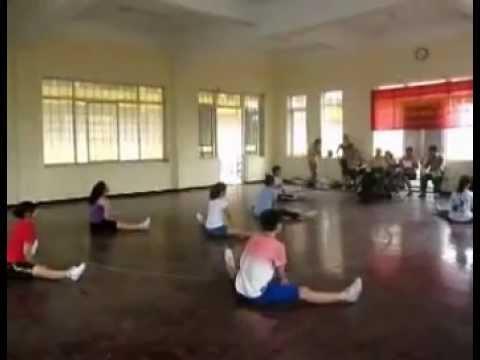 Bài biểu diễn miêu tả động tác mẫu thể dục nhịp điệu thiếu niên 2012