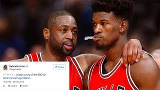 Jimmy Butler Tries To Hook Dwyane Wade Up with Girls, Gabrielle Union Throws Twitter Shade