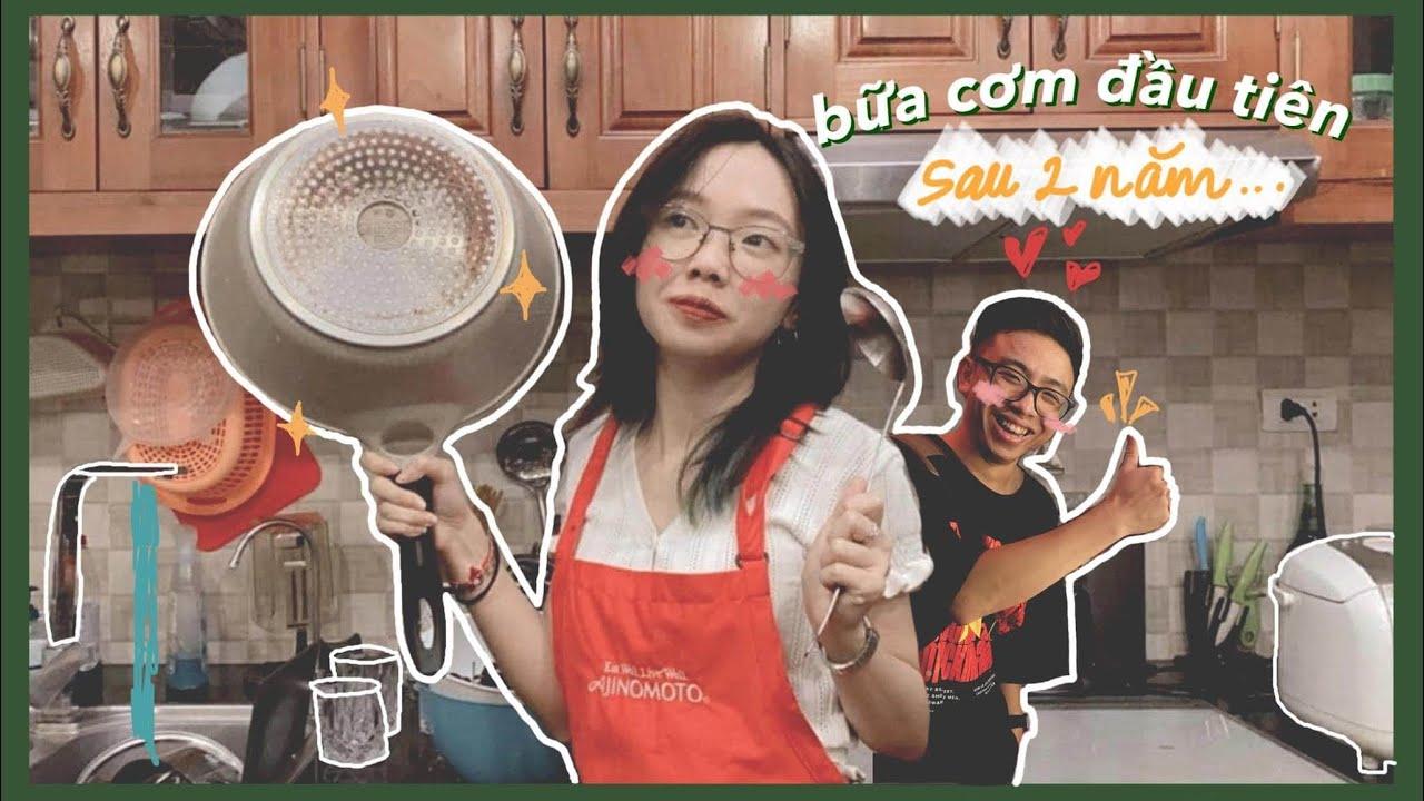 Mi nấu cho Tân bữa cơm đầu tiên sau hơn 2 năm... | Vlogging with IG Filters