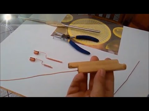 Homemade wood tool for easy wiring inner twisted coils for alekz beads, capacitors+ split-capacitors