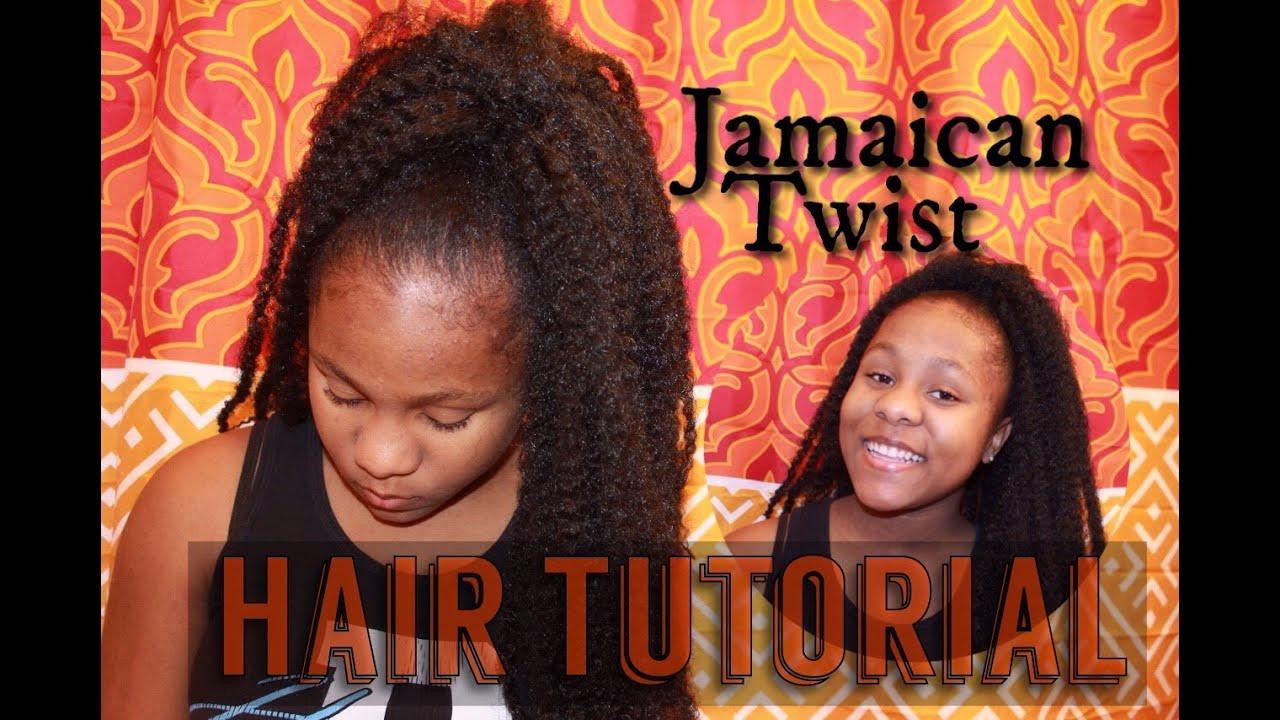 """ Little Sis Gets Her Hair Did! ""Hair Tutorial (Jamaican"