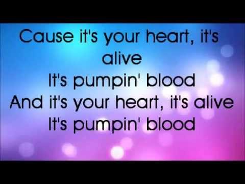 Glee Pumpin' Blood Lyrics