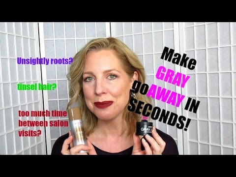GRAY AWAY! | How To Cover Your Gray Roots In Seconds