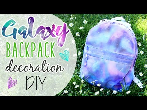 Galaxy Backpack decoration - Zaino effetto Galaxy ft. ART TV by Fantasvale!