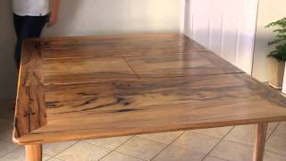 Extendable Dining Table In Marri