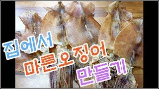집에서 마른오징어 만들기 #총알오징어 #오징어#버터오징…