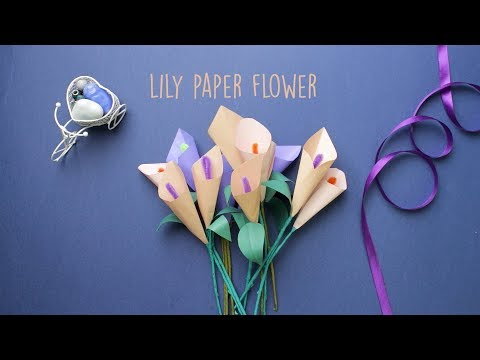 Lily Paper Flower | Paper Craft