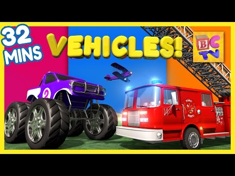 Thumbnail: Fire Truck, Dump Truck, Monster Truck & More | Vehicles for Kids Collection Vol 1