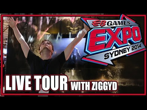 EB Gaming Expo Virtual Tour with ZiggyD - Explore the Show Floor with Me! - Sydney 2014