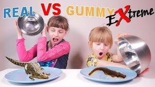 EXTREME REAL VS GUMMY • INSECTES REPTILES ARACHNIDES - Studio Bubble Tea Food Challenge