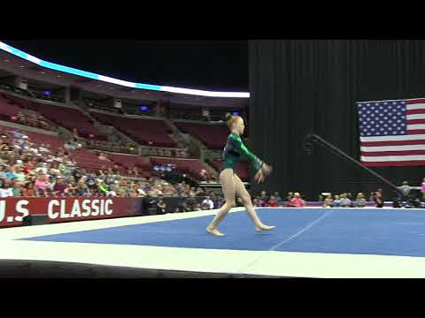 Lyden Saltness - Floor Exercise - 2018 GK U.S. Classic - Junior Competition