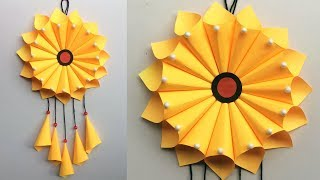 Diy Wall Hanging Decoration // Room Decor Crafts // Paper Craft Ideas // Best Out Of Waste #dotsdiy