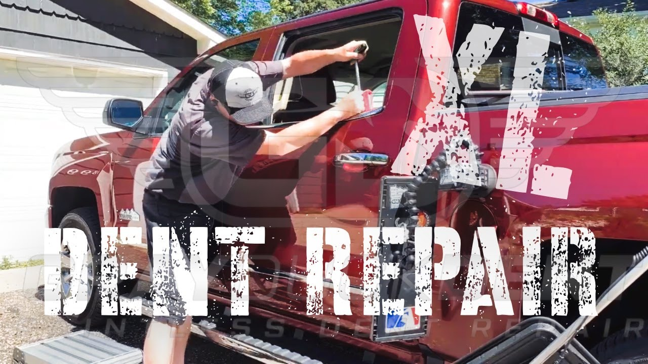 Silverado Side Swipe | Paintless Dent Repair