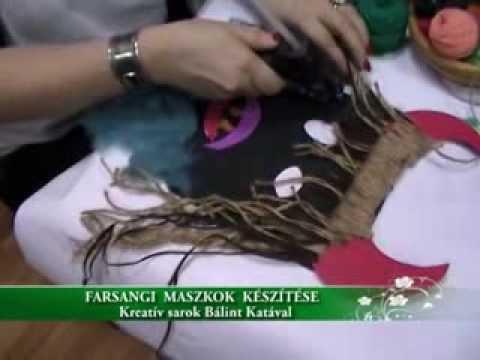 Farsangi maszkok - Kreatív sarok Bálint Katával