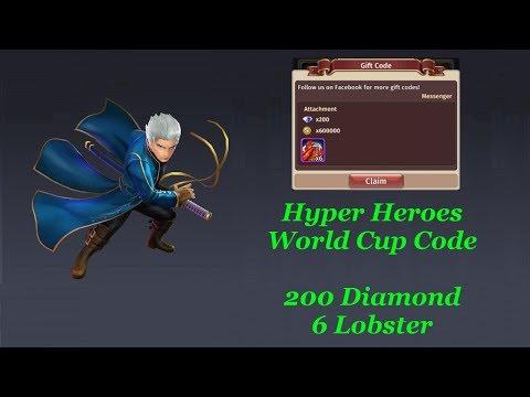 Hyper Heroes Redeem Code (World Cup)