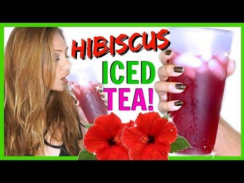 4 INGREDIENT HIBISCUS ICED TEA REFRESHER! - YouTube