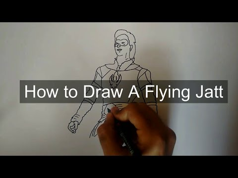 How To Draw A Flying Jatt Indian Superhero Let S Draw To Inspire