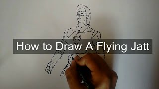 How to Draw A Flying Jatt | Indian Superhero | Let