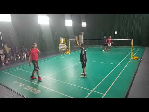 badminton match playing with UAE friends VIDEO0071