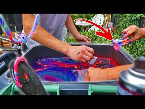Crazy Neon Hydro Dip On Bike Parts Youtube