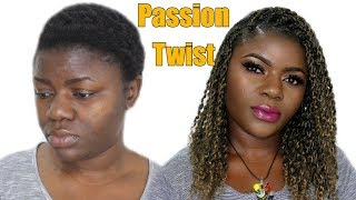 Short Passion Twist Tutorial With Twa Hair Ft. Xtrend Hair | Dilias Empire
