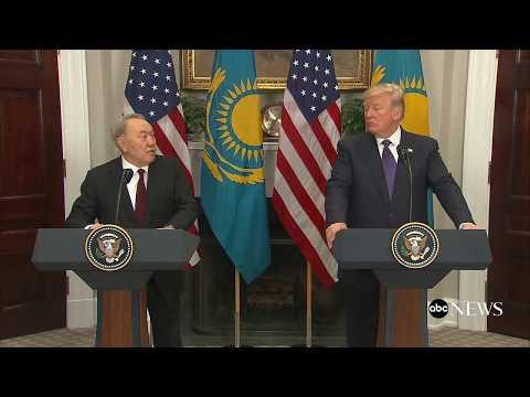 Pres. Donald Trump, Kazakhstan President Nursultan Nazarbayev  hold joint news conference | ABC News