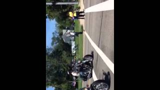 Bikers procession at Marine Sgt funeral