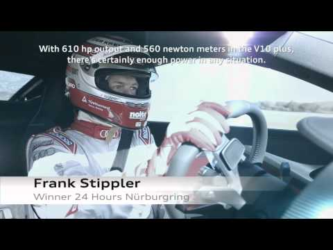 Audi R8 Prototype test drive with Audi works driver Frank Stippler.