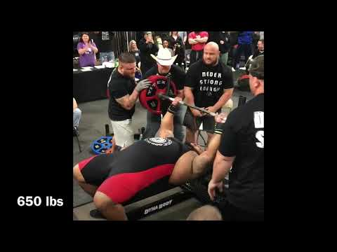 Julius Maddox, 705 lb Bench Press at RPS Meet (All Attempts)