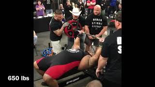Julius Maddox, 705 lb Bench Press at RPS Meet (All Attempts)