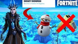 Fortnite New Sneaky Snowman + End of Quad Launcher Update Countdown + Gameplay! (New Update)