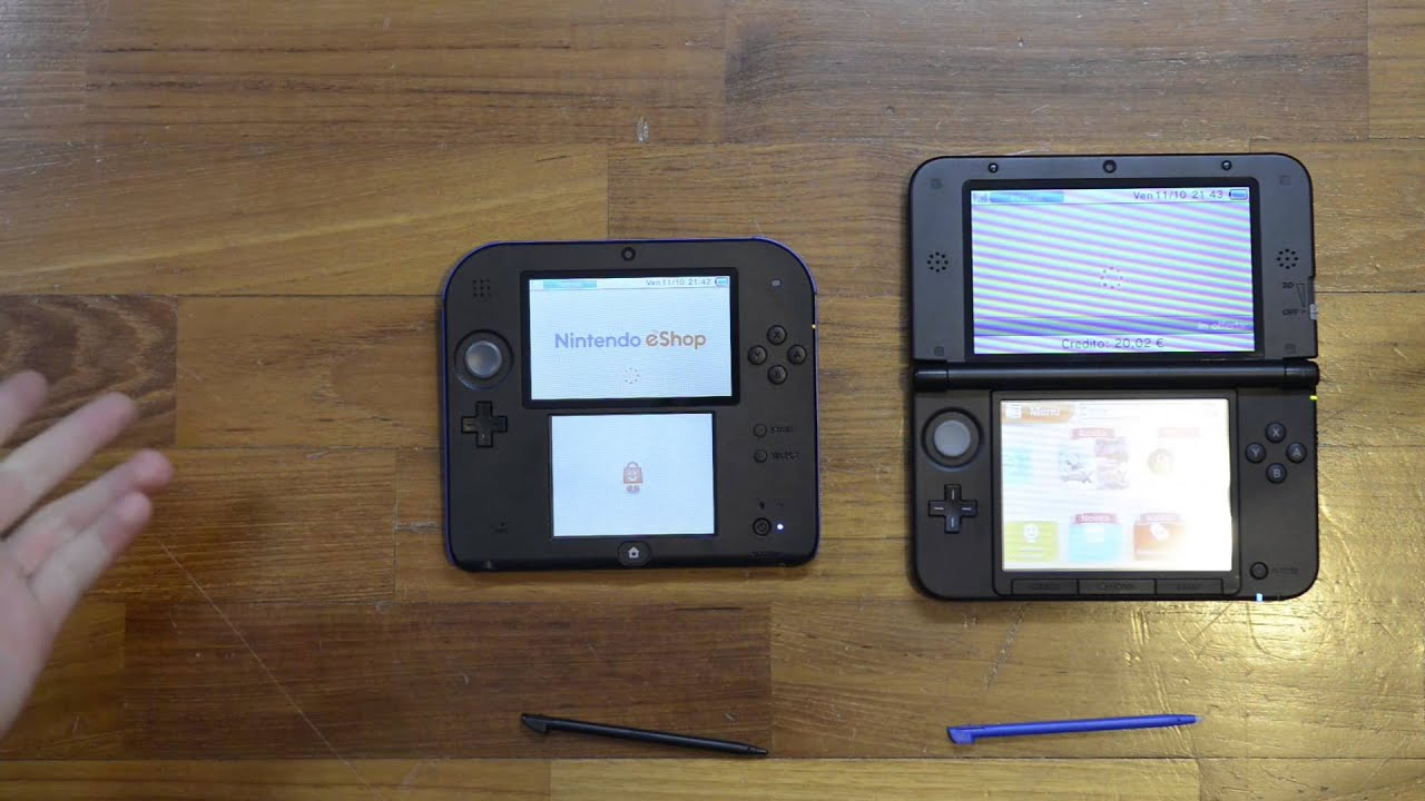 Confronto nintendo 2ds nintendo 3ds xl youtube for Housse new 2ds xl