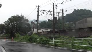 EF210-18号機(岡山機関区所属)牽引遅延(遅れ)5062レ 5062列車 用宗駅~安倍川駅間通過 EF210形電気機関車牽引貨物列車