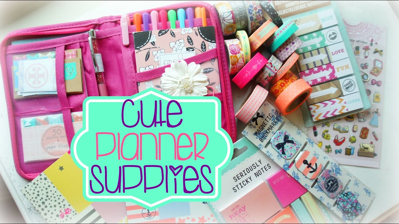 graphic relating to Planner Supplies identify Lovely Planner Components Haul Ep. 1