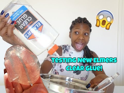 Testing New Elmers Clear Glue! | Peachy Queen