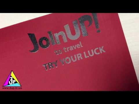 Фольгирование конвертов из дизайнерского картона в Полиграфии 2UP - Продолжительность: 0:16
