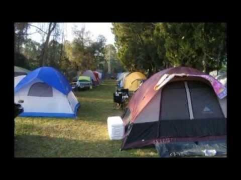 Motorcycle tent camping daytona beach florida youtube