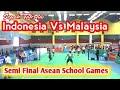 Indonesia Vs Malaysia    Semi Final Sepak Takraw Asian School Game 2018 2-1
