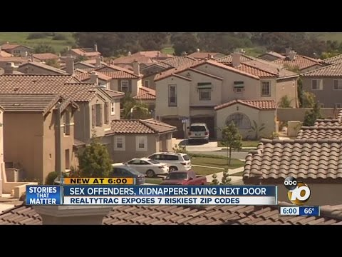 Study: Sex offenders, criminals hit home prices in 7 San Diego County ZIP codes