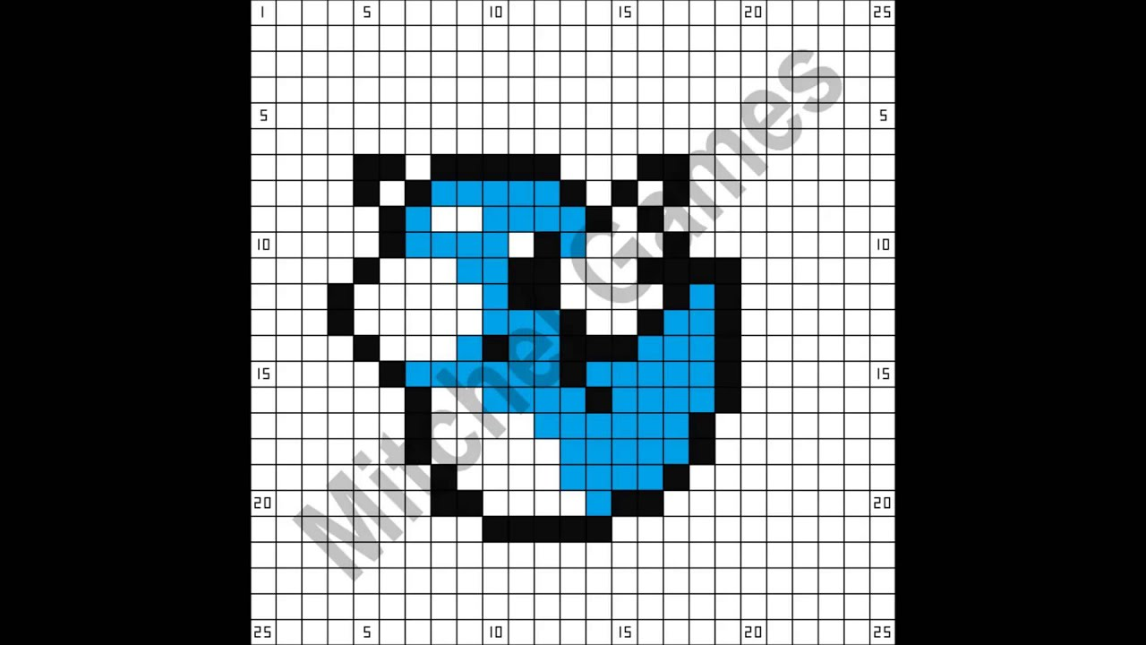 Dratini Pixel Art Template