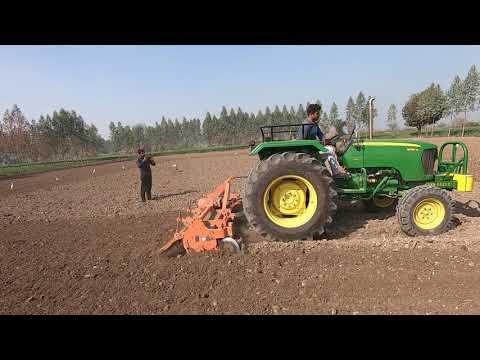 Part -2 John deere 5050 D tractor average in 8 feet rotavator