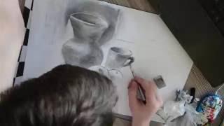 Натюрморт УГЛЁМ//Как рисовать углём(Хэй , это мое первое видео , тут я показываю как рисую натюрморт углем.Подписывайтесь на мой канал если увлек..., 2016-05-26T06:55:29.000Z)